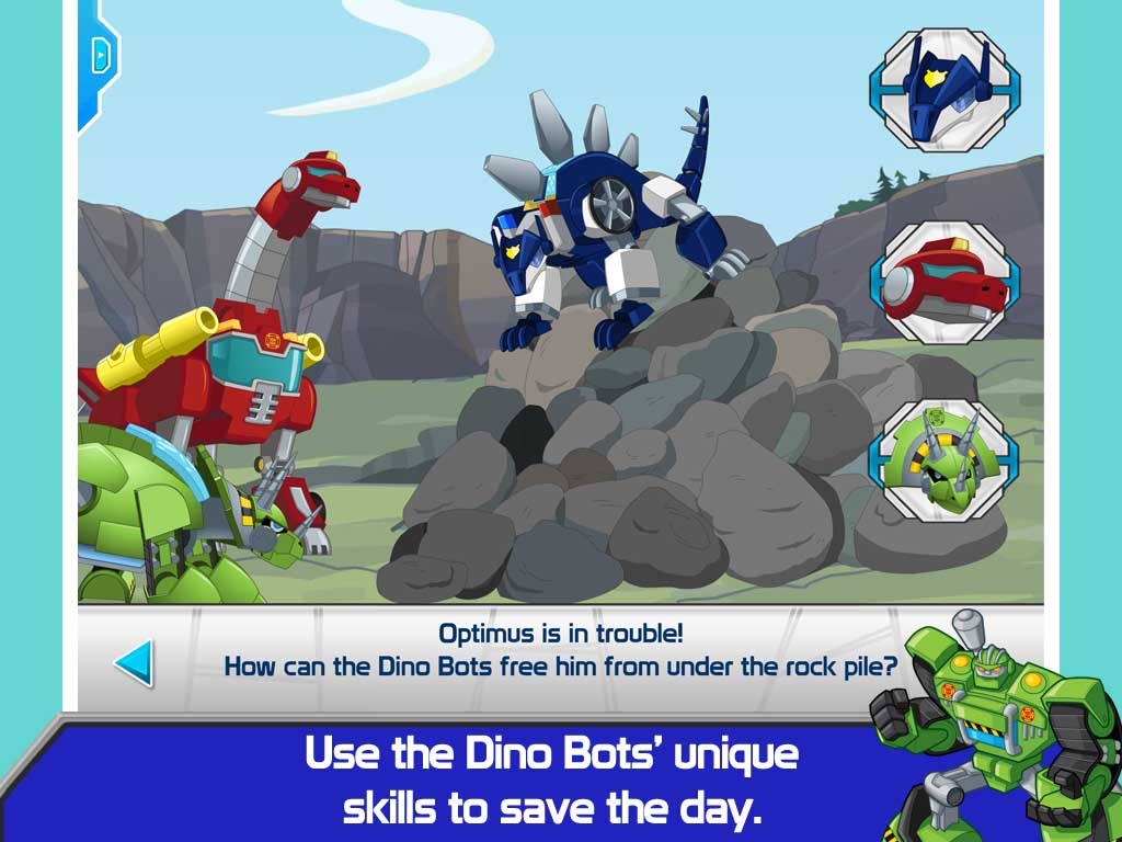 Transformers Rescue Bots Dino Island Screenshot