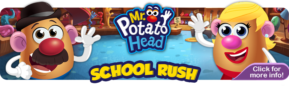 Mr Potato Head School Rush Banner
