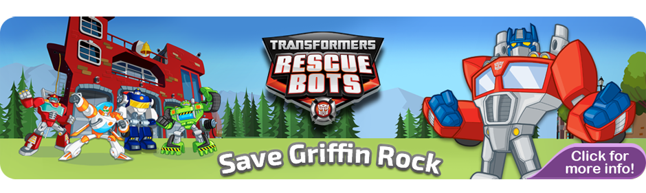 Transformers Rescue Bots Save Griffin Rock Banner