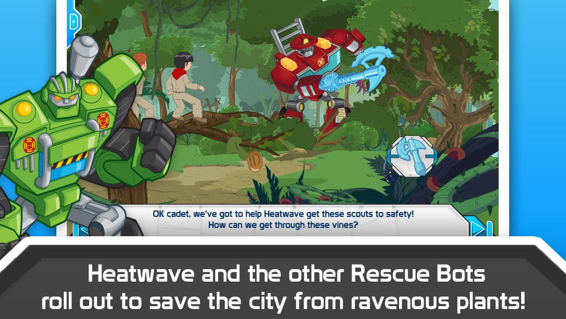 Transformers Rescue Bots Sky Forest Rescue App Screenshot